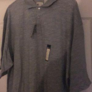 NWT sz 2 xlt Gray polo shirt